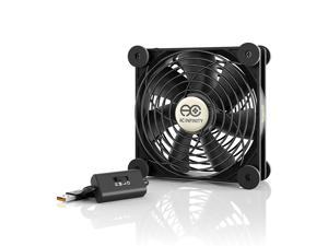 AC Infinity MULTIFAN S3, Quiet 120mm USB Fan for Receiver DVR Playstation Xbox Computer Cabinet Cooling