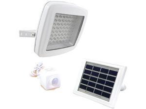 GUARDIAN 480X Solar Security Flood Light with Standalone PIR Motion Sensor and Lithium Battery, 600 Lumen
