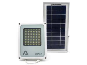 ALPHA 600X Flood Light, 3-Level Power and Brightness Control, Lithium Battery, as Solar Security Floodlight and Area Lighting for Farm, Yard, Home Garden, Remote Cabin, Alley