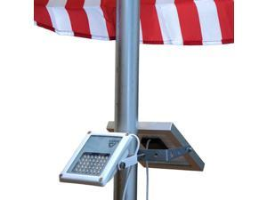 ALPHA 180X Flag Pole Light for Solar Flagpole Lighting / Cast Iron Street Light Style Doubled as Floodlight with Bend Angle 180 Degree as Up Light or Down Light / U-Bracket Fits Max Pole Diameter 2.5""