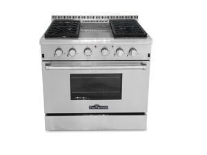 """Professional Style All Stainless Steel 36"""" Gas Range with Griddle"""