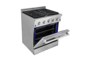 """Professional All Stainless Steel 30"""" Gas Range"""