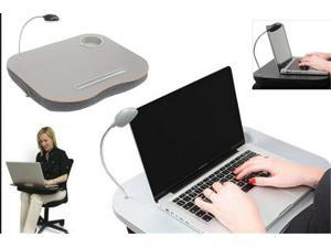 Laptop Desk Cushion with LED Light and Cup Holder PORTABLE