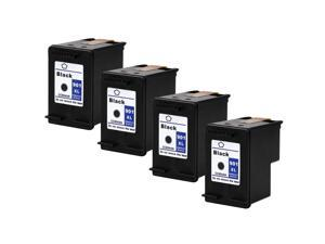 InkTonerBox Remanufactured Ink Cartridges for HP901XL CC654A(4 Black) Compatible With OfficeJet 4500 G510a J4500 J4550 J4640 J4680c 4500 G510g J4524 G510n J4540 J4624 J4680 Printer Show Ink Level