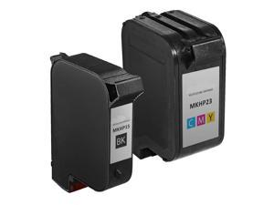 InkTonerBox Remanufactured Ink Cartridge For HP15 C6615DN & HP23 C1823D (1 Black 1 Tri-Color) Compatible with Color Copier 140 115 150 155 160 170 260 270 Printer