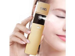 SKG Premium Handheld Nano Ionic Cool Mist Face Hydration Sprayer - 10x More Effective Than Facial Lotion - Portable USB Face Hydration Spray - Moisture Facial Spray (Golden, 1-Minute Timer)