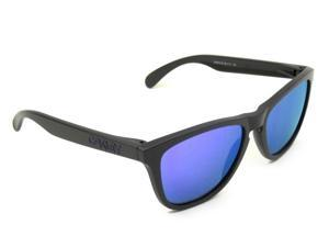 Oakley Frogskins Dark Grey /Violet Iridium oo9013-33 Sunglasses