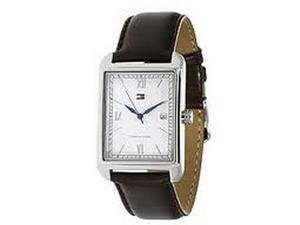 Tommy Hilfiger Men Brown Leather Calendar Watch 1710092