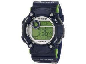 Armitron Men 8229BLU Blue Resin Digital  Sport Watch
