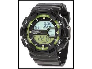 Armitron Men 8246LGN Black and Lime Green Digital World Time Watch