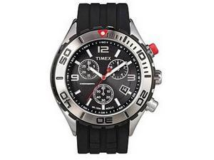 Timex T2M761 Mens SL Series Chronograph Black Resin Strap