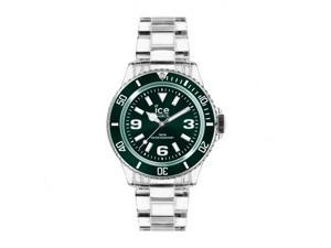 Ice   PU-FT-U-P-12 Women Pure Green Dial Transparent Plastic