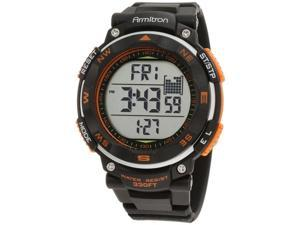 Armitron Men 8251ORG Round Metalized Orange Accented Watch