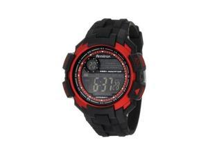Armitron Men 8258RED Chronograph Black Resin Red Accented Watch