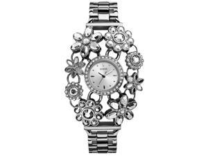 Guess W0138L1 Women's Silver Analog Watch With Silver Dial