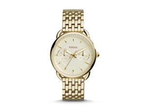 Fossil ES3714 Women's Gold Tone Analog Watch With Golden Dial