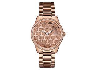 Guess Women's Rose Gold Tone Analog Watch U0536L1