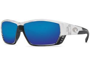 Costa Del Mar Tuna Alley Crystal/Blue Lens TA39OBMP Polarized Sunglasses