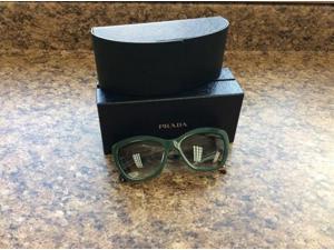 Parada Women's Poeme Green/Clear Lens PR02QS-TFO1E0 Sunglasses