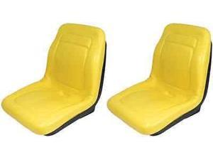 "Two (2) New Yellow Seat 18"" Made To Fit John Deere Gator 4X4 4X2 4X6"