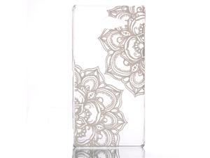 For Sony Xperia M2 Ultra-thin Hard PC Snap-On Clear Back Case Cover Shell Protector (Decorative Pattern)