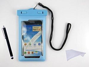 Moonmini Waterproof Case Housing Dry Bag Case Cover for iPhone 4/5 Samsung Galaxy S2/S3/S4 iPod Touch 3/4/5 Case + Cleaning Cloth + Stylus, Sky-blue
