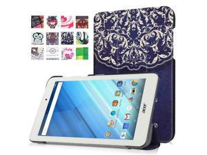 Moonmini Case for Acer Iconia One 8 B1-850 PU Leather Tablet Case Flip Cover Protector with Stand Function (Flower Vine)