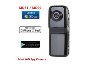MD81 SMD99 Wireless IP Spy Hidden Camera Wifi Sport Mini HD DV Camcorder DVR Recorder with TF Slot for iPhone Android Support Personal Security Body Use