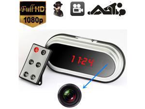 HD SPY Hidden Video Camera Remote Table Mirror Alarm Clock Mini DV DVR 1080P JJ