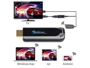 5GHz Wireless HDMI Streaming Media Player Wi-Fi Display Dongle Share Videos Images Docs Live Camera Musics from All Smart Devices to TV, Monitor or Projector, 1080p Full Of HD Wife Display Adapter