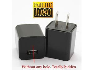 US Plug 1080P Mini AC adapter Charger Hidden Spy Camera Loop Video Record Motion Detect 8GB Memory