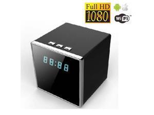 Wifi 1080P Square Shape Night Vision Hidden Motion Detection Spy Camera Clock 140 Degree