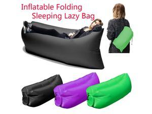 Inflatable Hangout Air Sleeping Hiking Camping Bed Beach Sofa Lounge Lazy Bag Many Colors(Purple)