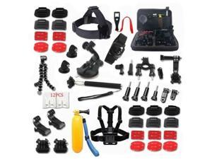 47-IN-1 GoPro Accessory Kit Full Bundle includes Selfie Stick + Floating Bobber + Chest Mount + Tripod + Head Mount + Carrying Case