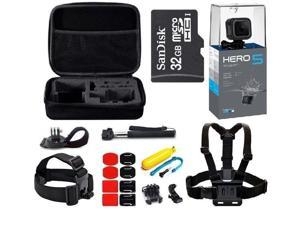 GoPro Hero5 Session HD Waterproof Camera Camcorder with 32GB MicroSD Card + 23-IN-1 Accessory Kit Full Bundle includes Selfie Stick + Floating Bobber + Chest Mount + Tripod + Carrying Case