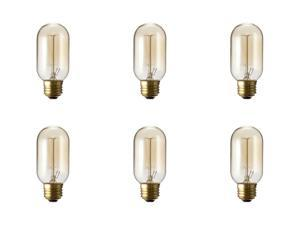 T45 Vintage Lighting Antique Light Bulb Fits : E26 / E27 Warm White Nostalgic Lamp Cage Filament 120V 40 Watts - 6 Pack