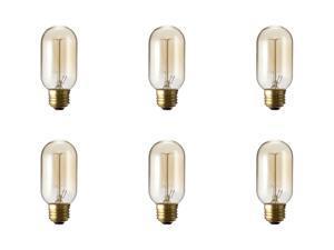 T45 Vintage Lighting Antique Light Bulb Fits : E26 / E27 Warm White Nostalgic Lamp Cage Filament 120V 40 Watts - 6 Pack