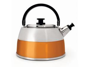 2.5 L Stainless Steel Whistling Kettle with Stay-Cool Handle and Glass Lid