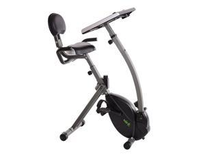 WIRK Ride Steel Frame 2 AAA Battery Operated Exercise Bike Cycling Workstation with Tablet Holder and Fitness Monitor