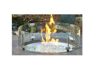 Outdoor Greatroom  GLASS GUARD-20-R  Round Glass Guard Fencing for CF-20 Burner