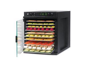 Sedona Express Digital Non-flammable and BPA-Free Food Dehydrator with Powerful Central Fan and 11 Stainless Steel Trays
