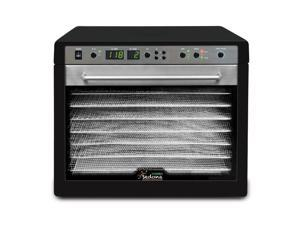 Sedona Combo Digital and Dual Fan Technology Food Dehydrator with Stainless Steel Handle and Transparent Glass Door