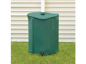 Knock Down Rain Barrel with Downspout Diverter  52 Gallon