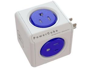 PowerCube Original 4 Outlet Wall Adapter with 2 USB Ports