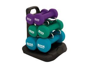 Dumbbell Weight Set with Stand by Maha Fitness  20 lbs