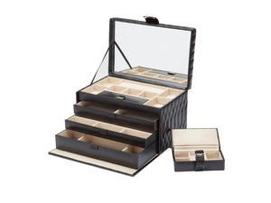 Caroline Jewelry Box with 3 Storage Compartments by Wolf