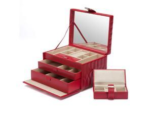 Caroline Jewelry Box with 2 Storage Compartments by Wolf