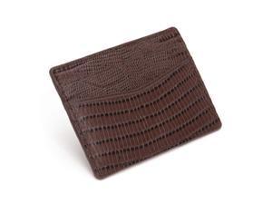 Blake Lizard Embossed Credit Card Case by Wolf Brown