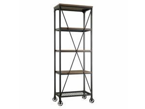 Casey 4-Shelf Metal & Wood Bookcase