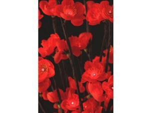 Plum Flower LED Lights Red/Brown 40 Inch